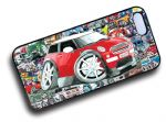 Koolart STICKERBOMB STYLE Design For Red BMW MIni One Hard Case Cover Fits Apple iPhone 4 & 4s